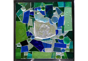 "Blue in Green 12"" by 12"""