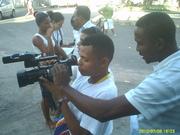 Filmando.
