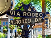 Via Rodeo Sign