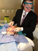 Dr. Mulholland Working on a Demo Patient