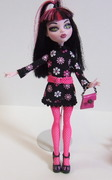 Monster High Black and Pink Daisy dress fashion