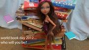 Clawdeen raises awareness for world book day