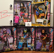 Monster High Dolls Scaris (Jinafire not in this picture) and Picture Day Cleo!