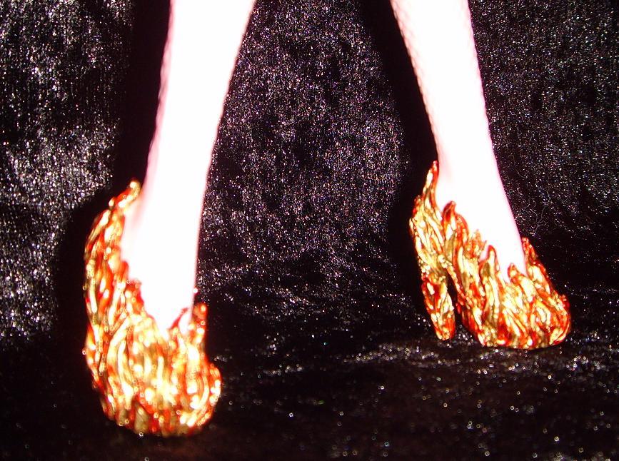 singe shoes