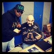 Myself with Ox Baker Slag from the movie Escape from New York with Kurt Russell