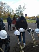 Q house ground breaking today