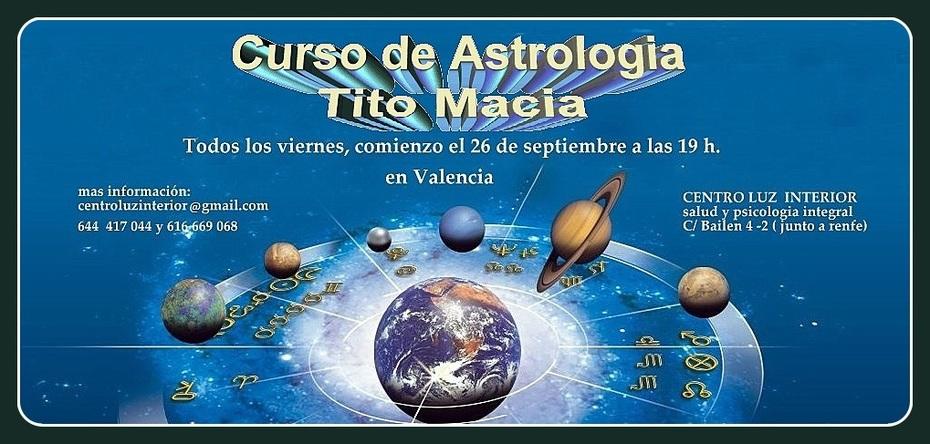 curso de astrologia en Valencia