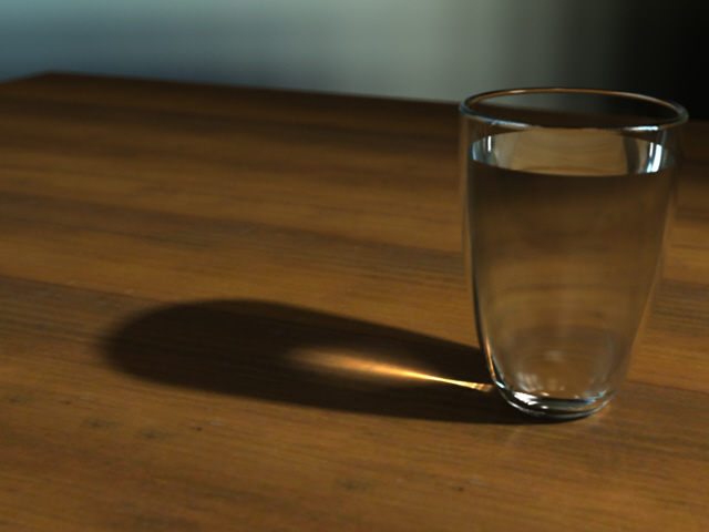 Glass with caustics