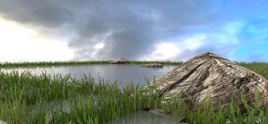 Natural site design by Rhino 5  render Brazil