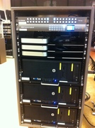 Custom video playout rack