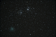 Comet Hartley & The Double Cluster in Perseus
