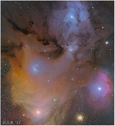 Rho Ophiuchus Nebula  New Processing