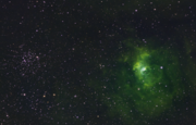 NGC7635 & M52 in Narrowband Mapped Colour
