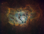 Dave Lane's M8 in the Hubble Palette