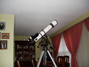 The 120mm. Aperture Apochromatic SkyWatcher in Jules V. Living Room.