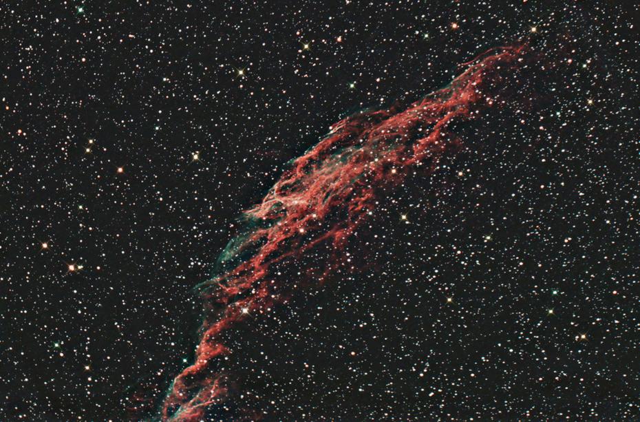 NGC 6992 Eastern Veil 12x200s 800iso 2013-11-30B