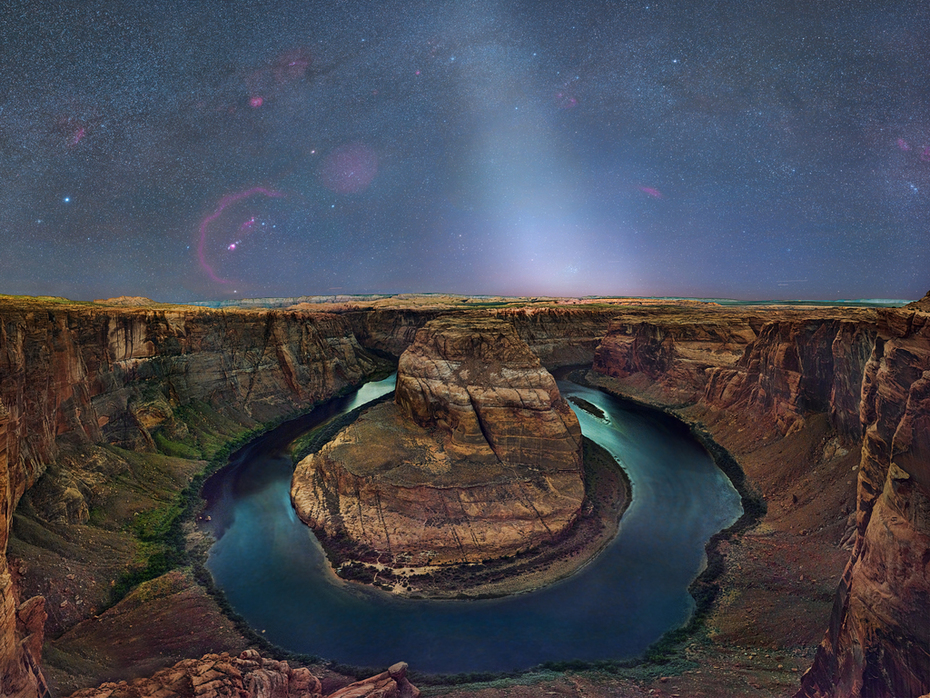 Horseshoe Bend, Orion and Zodiacal Light
