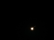Jupiter displaying 3 Moons