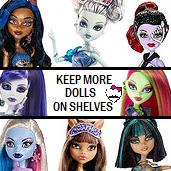 Keep More Dolls on Shelves!