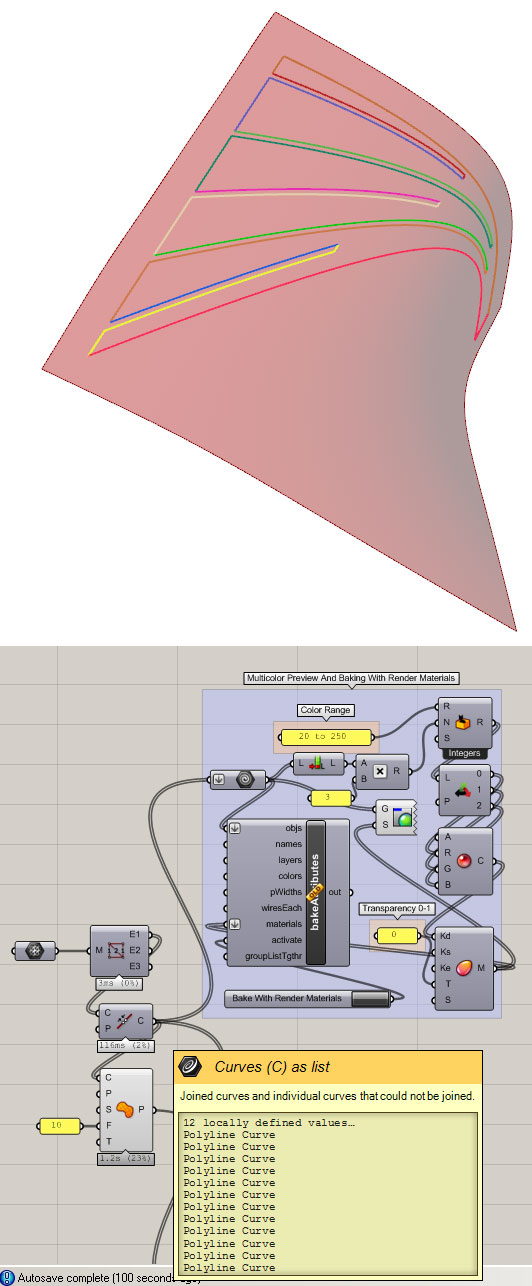 unfolding a surface extracted from Revit - Grasshopper