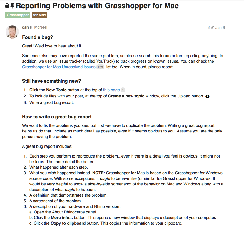Mac OSX version – Grasshopper