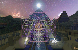3D Creations and Simulations of Symbols sacred geometry from labs to