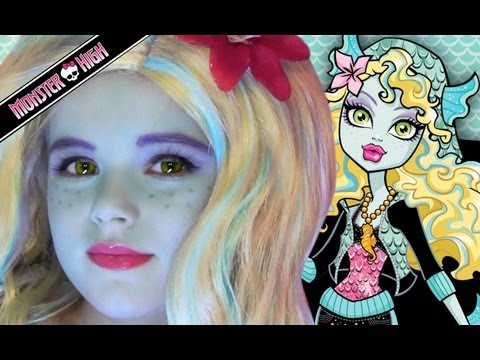 Lagoona Blue Monster High Doll Costume Makeup Tutorial for Halloween