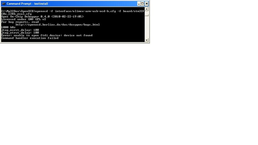 Olimex JTAG - Eclipse - OpenOCD - FOXTEAM UAV CLAN