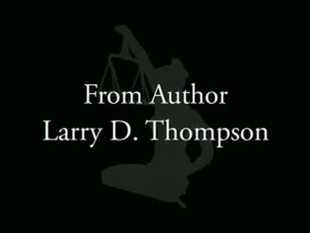 So Help Me God Larry D Thompson Book Trailer