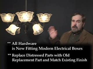 Genuine Antique Lighting Circa 1840 - 1940