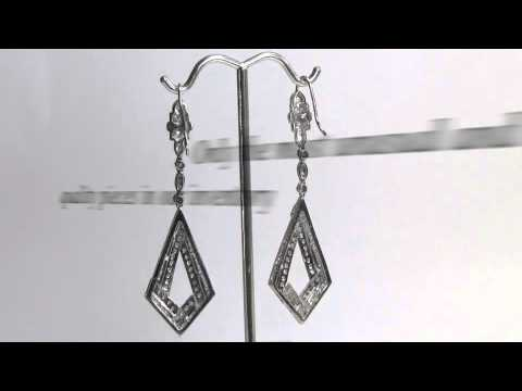 Platinum Diamond Dangle Earrings Platinum Earrings