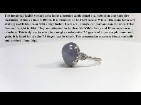 Vintage cabochon blue sapphire Ring Vintage Jewelry
