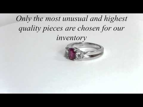 RubyRose Cut Diamond engagement Ring - Wedding Ring - Ruby Ring