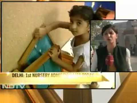 SchoolAdmissions.in  Nursery admission list out. Parents uncertain anxious depressed NDTV 1 feb11