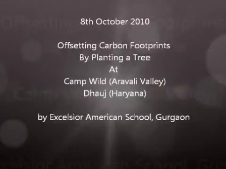 Offsetting Carbon Footprints - Excelsior American School, Gurgaon Students
