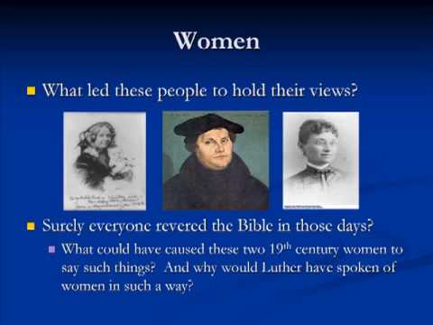 Bible's Treatment of Women by YouTube atheist Geoff Mather