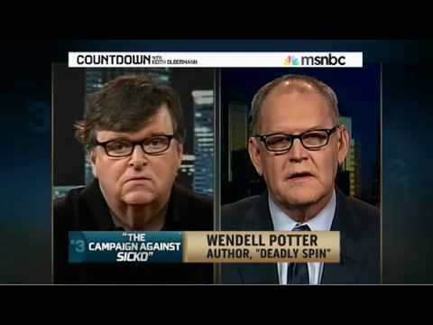 Michael Moore Meets Wendell Potter on Countdown with Keith Olbermann, Part 1 - 11/22/10