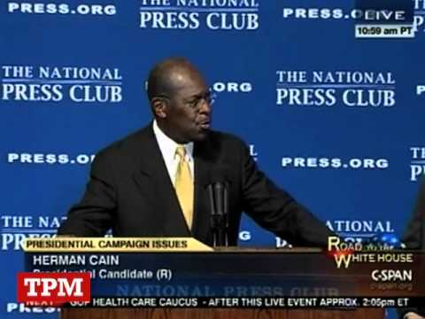 Herman Cain Sings At National Press Club Event