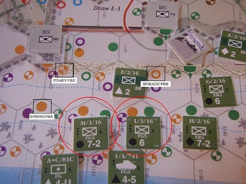 D-Day at Omaha Beach [Decision Games] - Instructional example of play.