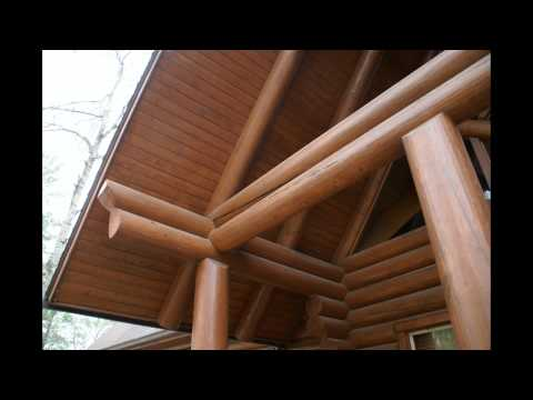 Log Home Stain Inspections 2013 / Guild Log and Timber