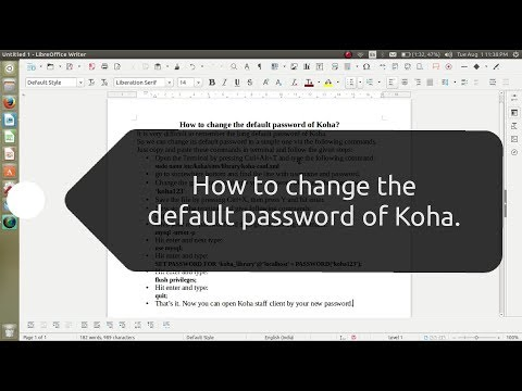 How to change the default password of Koha.