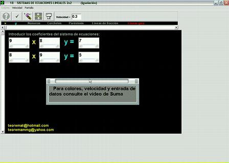 Sistemas de ecuaciones lineales 2x2 (Solución por igualación)