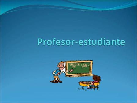 Profesor-estudiante