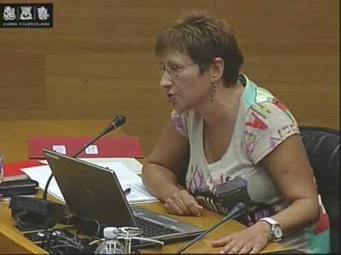 Mª Ángeles Llorente (IES Hoya de Buñol) en la comissió parlamentària sobre fracàs escolar