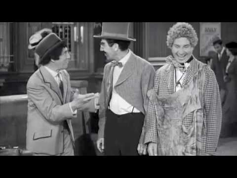 """The Marx Brothers- Train Station Scene in """"Go West"""""""