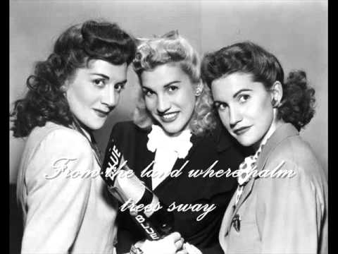Bing Crosby & The Andrews Sisters  - Mele Kalikimaka (With Lyrics)
