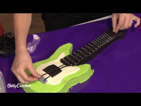 Guitar Cake - How To Make an Electric Guitar Shaped Birthday Cake