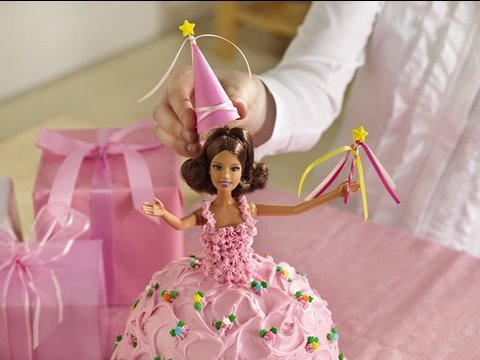 Princess cake - How to make a princess doll birthday cake