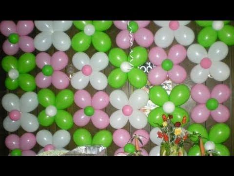 Decoracion de globos, fácil,  rápido y económico