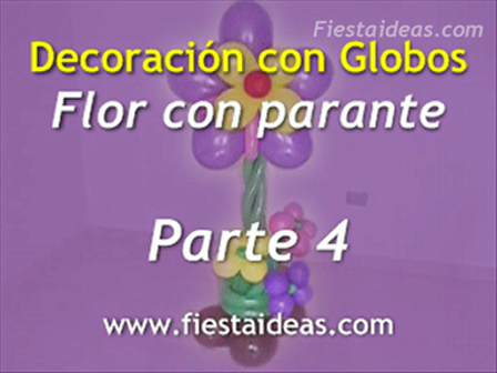 Curso de Decoración - Flor con Parante parte-4
